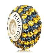 Alducchi Zaffiro Blue-Citrine Cristallo Argento Sterling .925 Europeo - $19.94