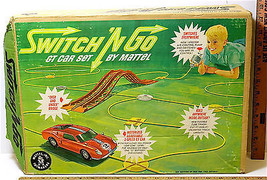 Vintage 1965 Switch 'N Go GT Car Set Mattel #6111 Bridges Hoses Air Pump Car +++ - $35.73