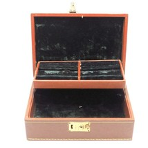 Vintage indented Jewelry Box Felt Lined - $54.80
