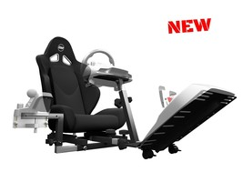 Video Gaming Car Seat Simulator Cockpit Chassis Recliner Bucket Racing X... - $856.39 CAD