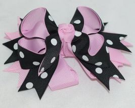 Unbranded Girl Infant Toddler Headband Removable Hair Bow Black Pink White image 5