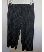 ROZ & ALI LADIES GRAY PINSTRIPE HEAVY CROPPED PANTS-L-POLY/RAYON/SPANDEX... - $14.99