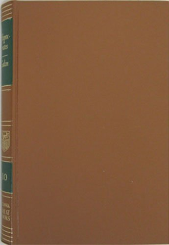 Great Books of the Western World 10 Hipp [Hardcover] [Jan 01, 1952] Hutchins, Ro