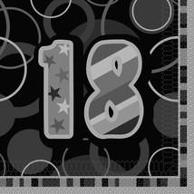 Unique Party Glitz Black 16th Birthday Paper Napkins, Pack Of 16 #eca - $9.09