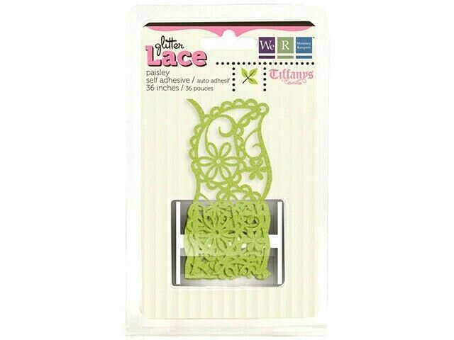 We R Memory Keepers Tiffany's 36 Inch Glittered Lace, Paisley #41113-0
