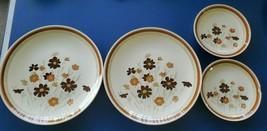 Royal China Sunshine Cavalier Ironstone 4 pcs Dinner Plates Settings USA - $21.90