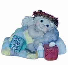 Dreamsicles figurine angel cherub Get well soon gift Kristin signed sick... - $23.17