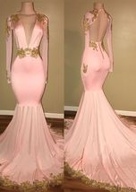 2018  prom Dress A-Line Deep  Long Backless Champagne Party dresses - $159.00+