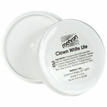 Mehron Clown White Lite  Professional Makeup  2.25 oz  Ships Free USA - $9.85