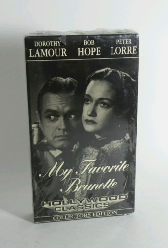 VINTAGE VHS MY FAVORITE BRUNETTE BLACK AND WHITE COLLECTORS EDITION (1947)