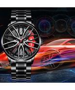 NEKTOM Men's waterproof, 3D car wheel rim hub, quartz watch. M-2022 - $89.99+