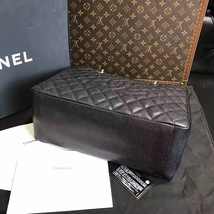 100% AUTHENTIC CHANEL CAVIAR GST GRAND SHOPPING TOTE BAG BLACK GHW image 6