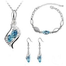 Women Colorful Jewelry Set Fashion Crystal Necklace Bracelet Earrings(11... - $27.12+