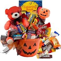 Happy Halloween Jack O Lantern with Teddy Bear Gift Basket - £44.23 GBP