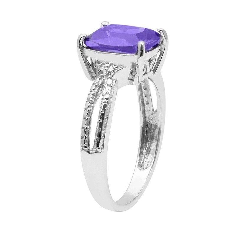 Tanzanite Color Cubic Zirconia 925 Sterling Silver Ring Jewelry Size-8 SHRI1476