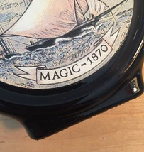 70s Old Spice commemorative flask after shave bottle (Magic 1870) image 3