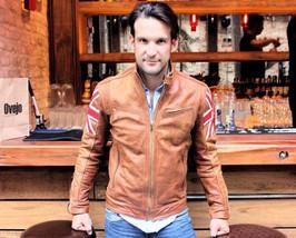 Mens Biker Vintage Motorcycle Distressed Moto Cafe Racer Leather Jacket - NL2 - $99.99