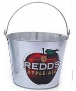 Redd's Apple Ale Beer Galvanized Metal Bucket With Handle RARE & HARD TO... - $12.77