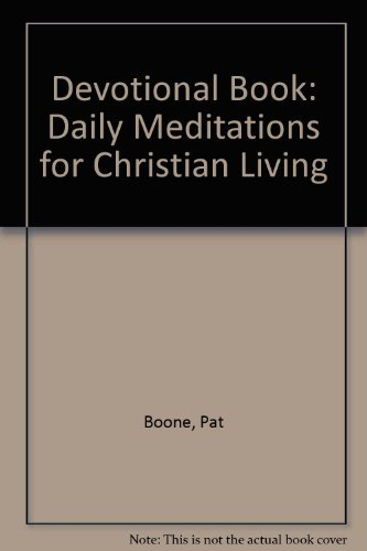 Pat Boone devotional book Boone, Pat