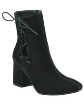 Brand New Women's Rue 21 Gila Block Heel Cut Out Side Laced Boots Black US 9 image 2