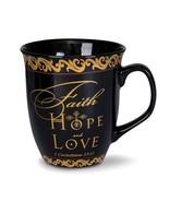Ceramic Faith Hope Love Mug - $17.99
