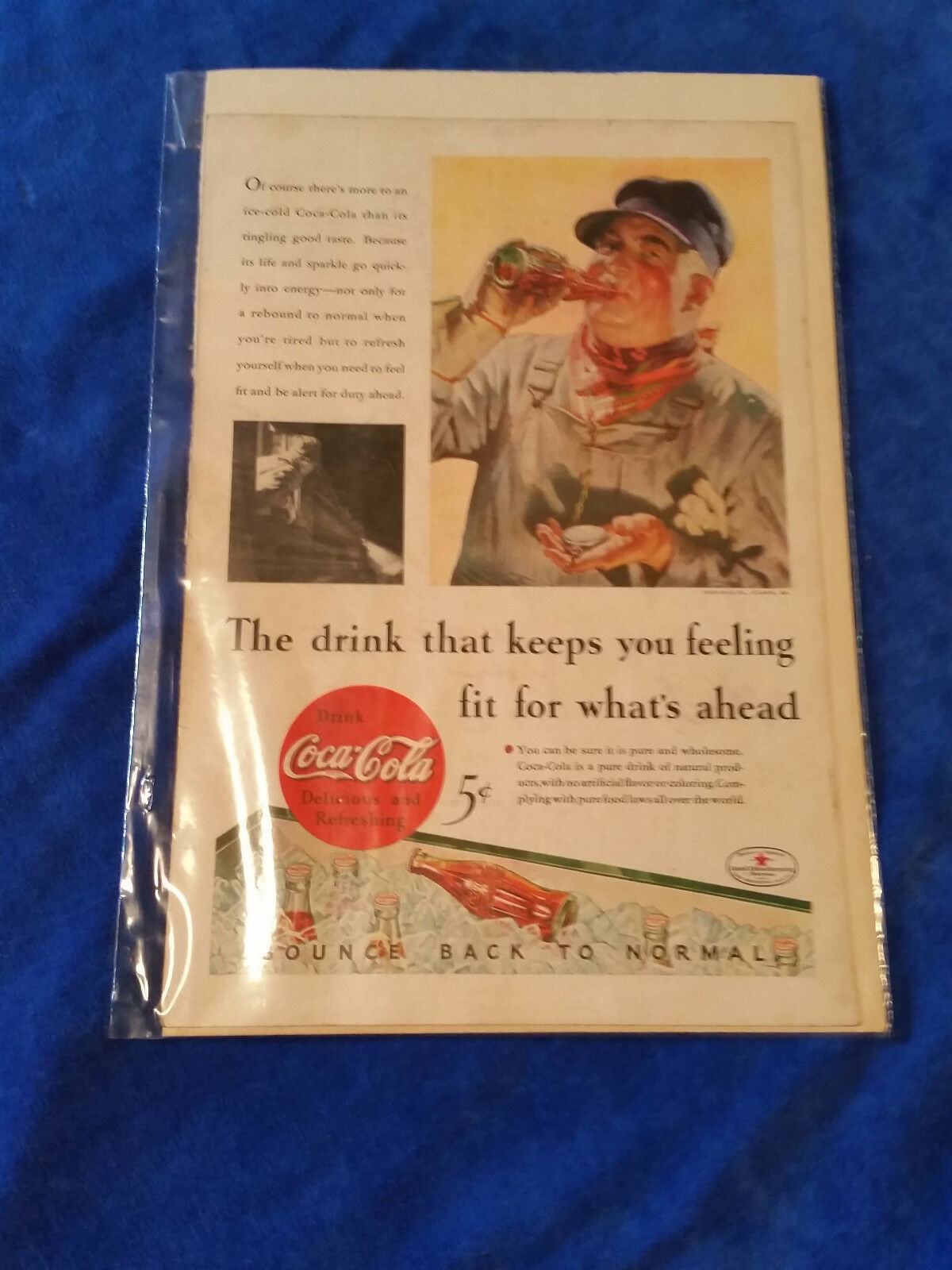 "Primary image for 1933 Original Coca Cola Magazine ad Feeling Fit For Whats Ahead 6 3/4""x10"""