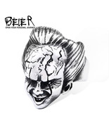 Punk Rock ring 316L stainless steel Cool Unique Design Movie  Face Funny Jewelry - $14.05
