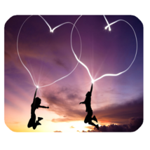 Mouse Pad Love Sight Beautiful Romantic Affection With Purple Line Heart... - €7,92 EUR
