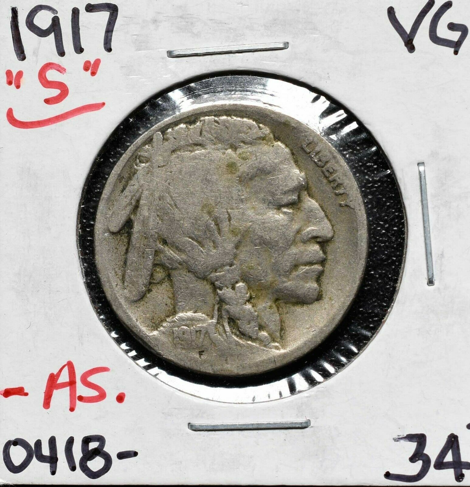 1917S Buffalo Nickel Coin Lot# A 603