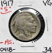 1917S Buffalo Nickel Coin Lot# A 603 image 1