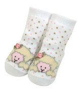 Baby Girls Wooly Chenille Lamb Booties Size 0-6 Months - $5.00
