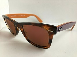 New Ray-Ban RB 2140 Wayfarer Polished Havana Amber 50mm Sunglasses  - $149.99