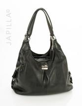 Coach 21225 Madison Maggie Mia Black Leather Shoulder bag satchel purse - $120.78