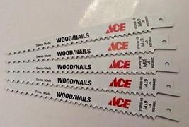 "Ace 2099356 6"" x 6 TPI Bi-Metal Wood/Nails Cutting Recip Saw Blade 5pcs ... - $3.96"