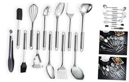 Berglander Stainless Steel Kitchen Utensil 12 Piece, Cooking Spoon, 12 P... - $43.89