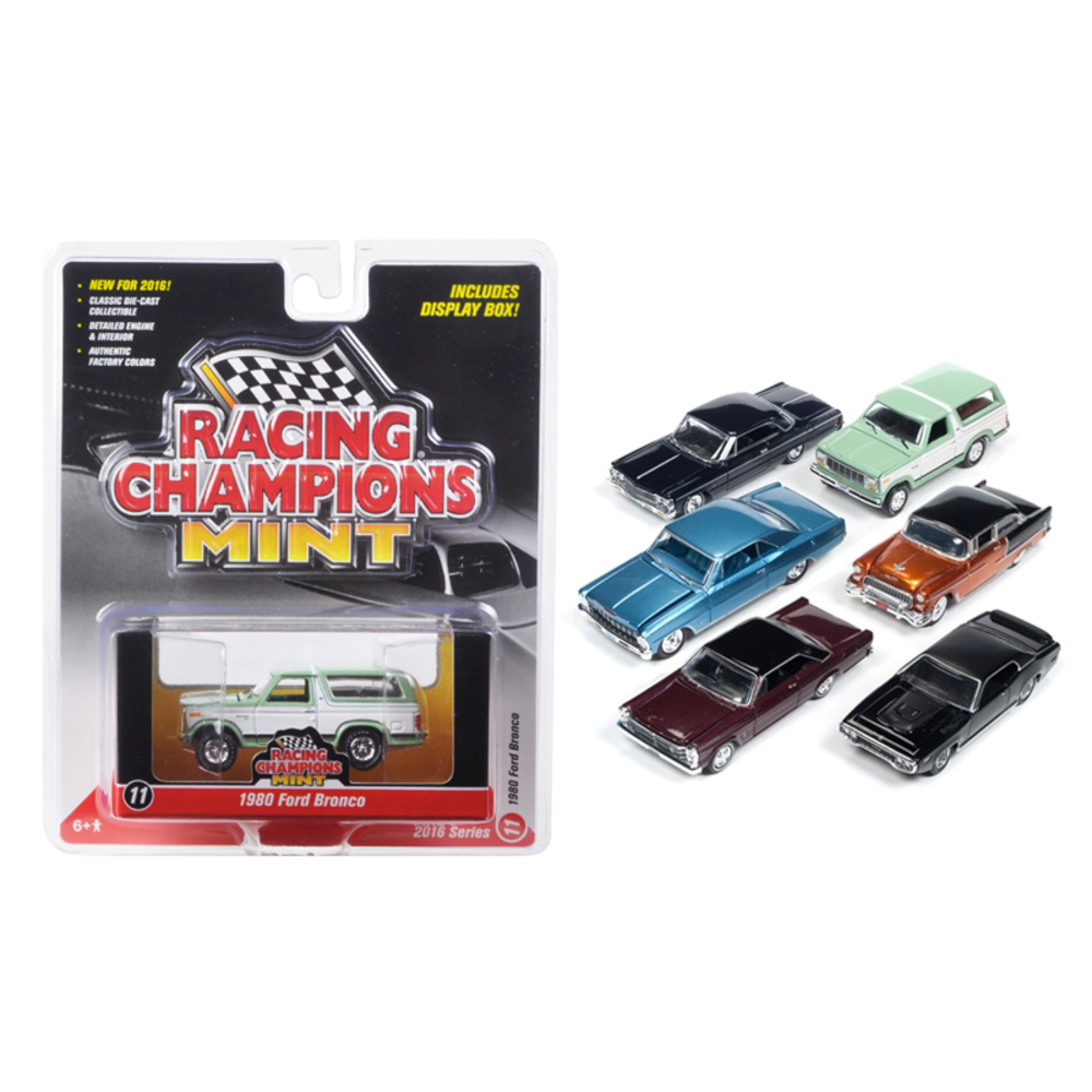 Mint Release 2 Set D Set of 6 cars 1/64 Diecast Model Cars by Racing Champions R