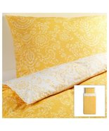 Ikea Akertistel 2pc Twin Duvet Quilt Cover 100 Percent Cotton Yellow / W... - $41.99