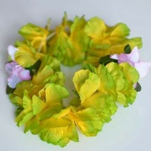 Premium Green Hawaiian Crown Lei Headband Paradise Petunia with Orchids ... - $6.25