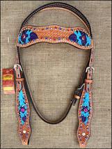 Western Horse Headstall Tack Bridle American Leather Hilason U-9-HS - $60.00