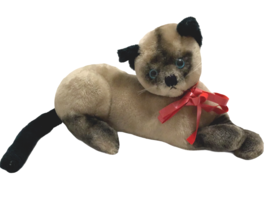 Vintage R Dakin Plush Siamese Cat Stuffed Shredded Clippings Made Korea ... - $39.59