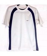 Nike Sportswear Men's Blue & White Sports Fitness T-Shirt Small VGUD - $13.00