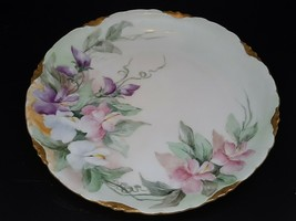 "Rosenthal Versailles plate. Floral on pale w/gilt Excellent condition 8"" - $45.00"