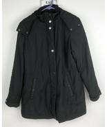 Lands' End Wonen's Black Hooded Jacket Coat Size XS 2-4 - $49.49