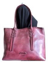 Frye Layla Bordeaux Wine Maroon Leather Shoulder Bag Shopper Tote - $5.622,87 MXN