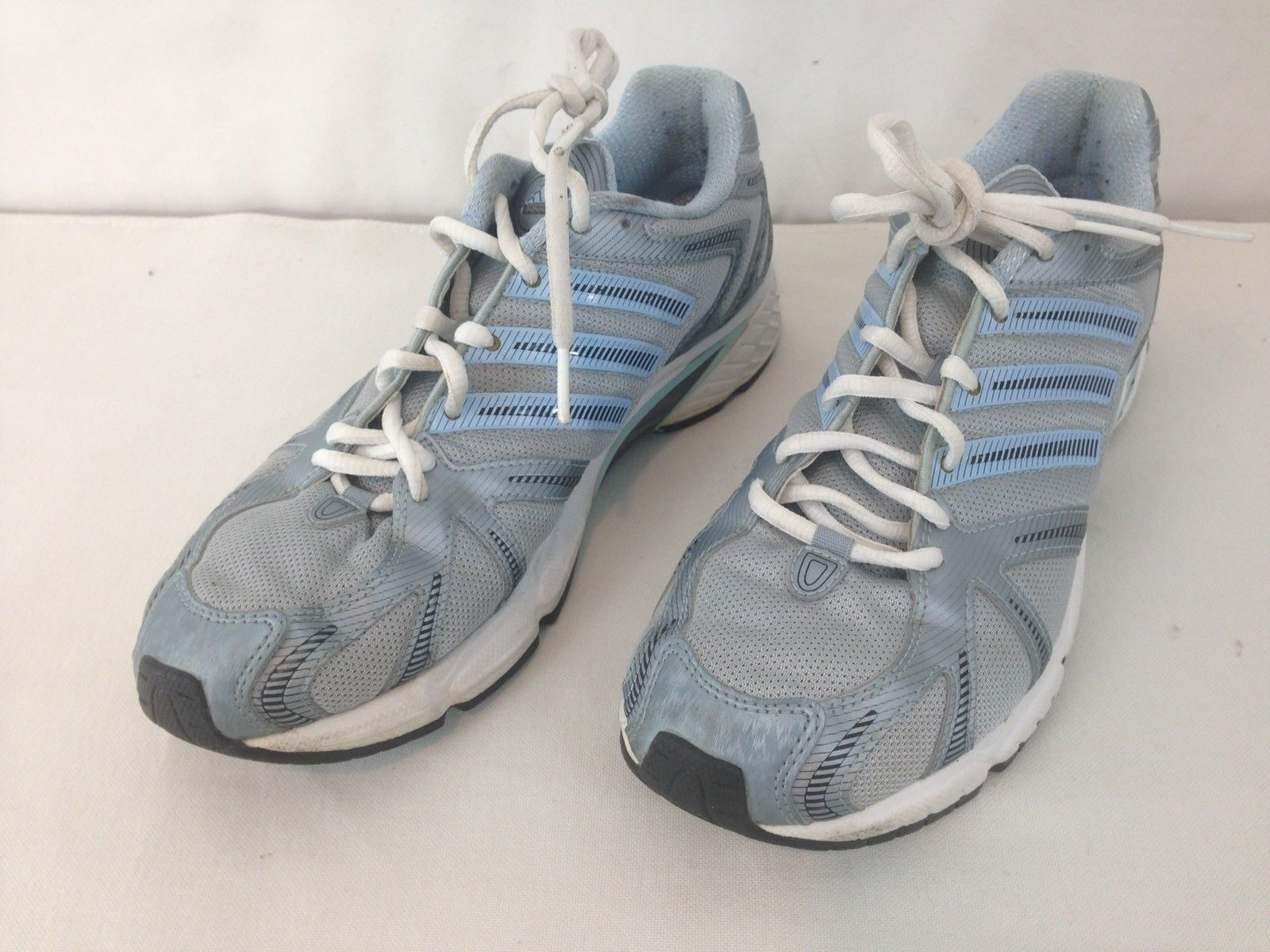 Adidas 451921 Womens 9.5 Adiprene Gray Blue Walking Running Athletic Shoes