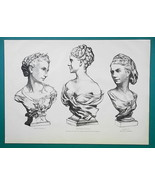 FRENCH LADIES Madame Carpeaux Dancer Fiocre - 1876 Antique Print - $16.20
