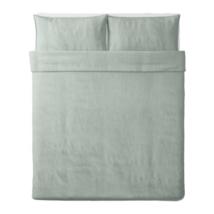 Ikea BERGPALM Full Queen Duvet Cover w/ Pillowcases, Green Stripe,104.23... - $59.39