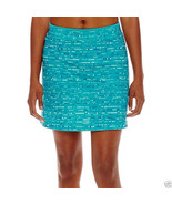 Made For Life Print Mesh Skort Dotty Stripe Blue Size PXL New - $14.99