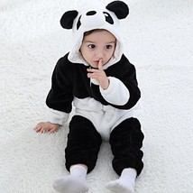Baby Flannel Panda Animal Romper Newborn Hooded Jumpsuit Hoodie Sleepwear - $36.80+