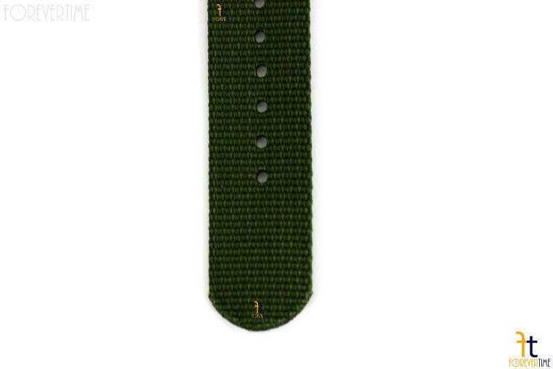 20mm per Luminox Nylon Ondulata Verde Orologio con Cinturino 4 S/S Anelli
